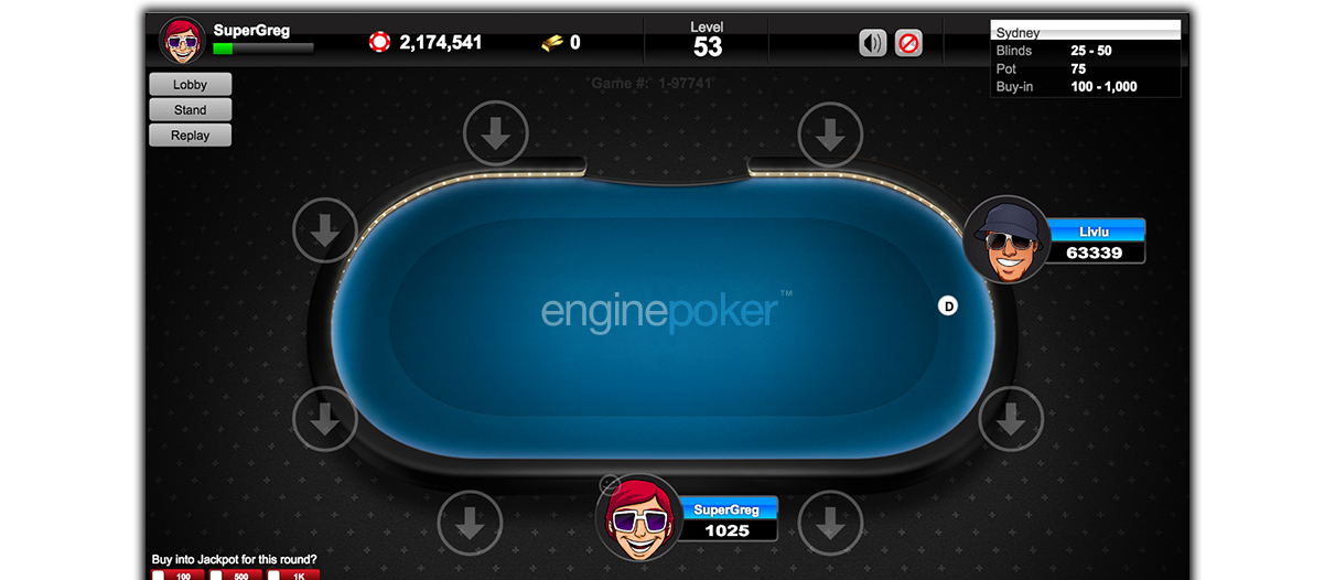Engine Poker™ | HTML5, iOS, Android, Web, Facebook, Mac and Windows